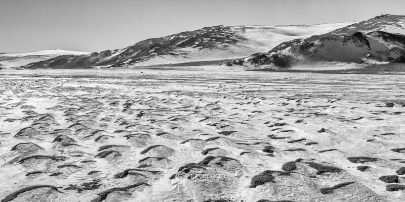 Winter scene in the Altai Mountains of Western Mongolia