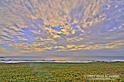 Pacific Ocean Dramatic Sunset © 2009 Colleen M. Griffith. All Rights Reserved.  This material may not be published, broadcast, modified, or redistributed in any way without written agreement with the creator.  This image is registered with the US Copyright Office.  Friend Colleen on Facebook