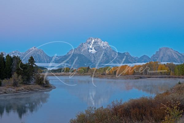 Oxbow Bend before sunrise