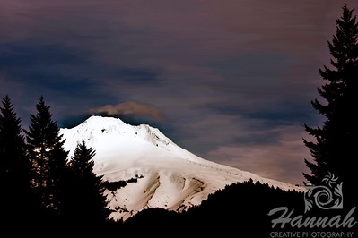 Digital art painting of Mount Hood... it is the tallest mountain in Oregon  © Copyright Hannah Pastrana Prieto