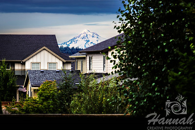 Image of Mount Hood as seen from the suburbs... it is the tallest mountain in Oregon  © Copyright Hannah Pastrana Prieto