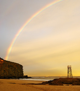 Sunset and Rainbow at Redhead Beach, NSW