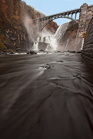 The Croton dam in Croton-on-Hudson new york. This dam creates the lake that supplies the majority of the drinking for New York City. This image was taking during an October snowstorm. I walked out into the river and my boots and tripod were well into about six inches of water. Both were completely drenched when I finished.
