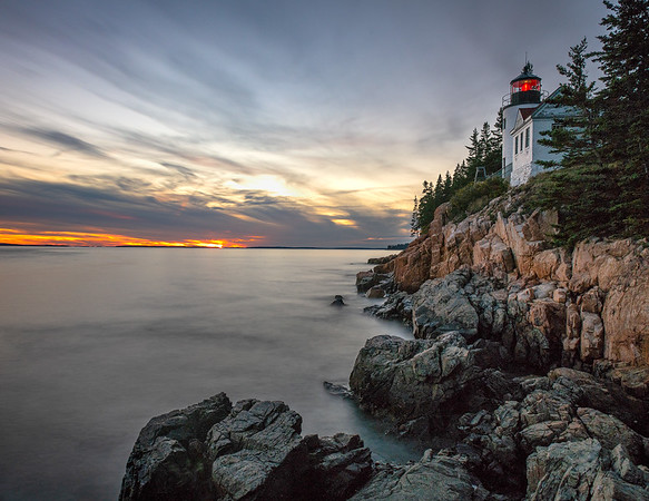Bass Harbor Light at sunset