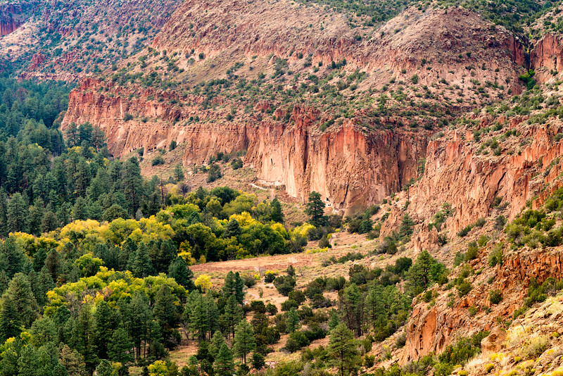 Fall and sunset come to Bandolier National Monument