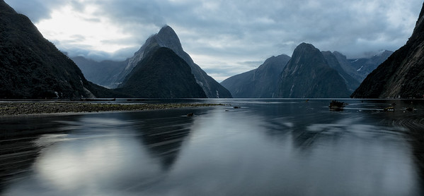 Sunrise at MIlford Sound.