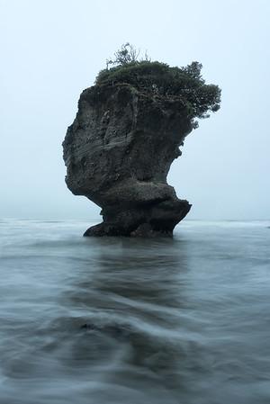 Sea Stack on Motukiekie Beach