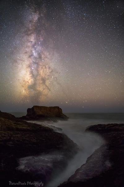 Milky Ocean under Milky way