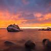 Bonsai Rock under Fiery Sky