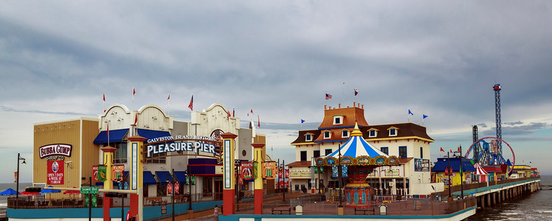Pleasure Pier in Galveston. Used to be Flagship Hotel.  Now owned by Landry's.