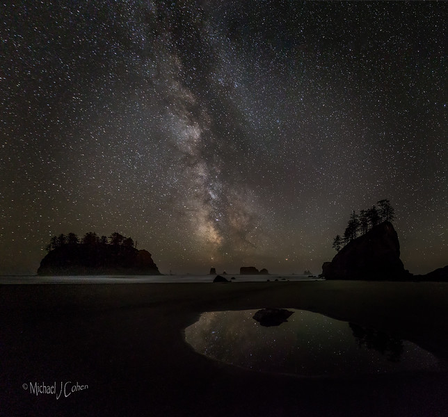 Rialto Beach Milky Way and Puddle-