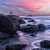 Ruby Beach Rocks and Sky Sunset-2
