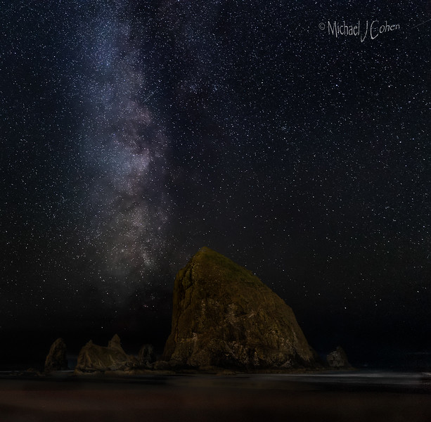 Milky Way at Cannon Beach, Oregon-9541