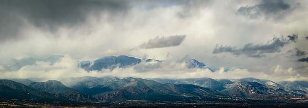 Winter Storm Around Pikes Peak
