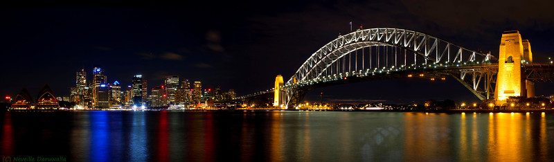 Sydney Opera House, city & Harbour Bridge
