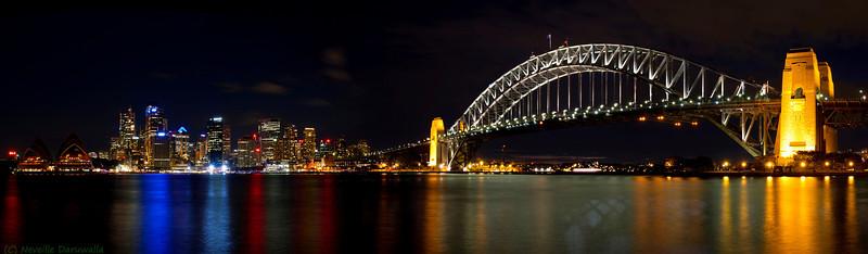Sydney Opera House, city & Harbour Bridge