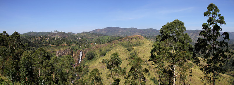 Devon Falls in Nawra Eliya, Sri Lanka