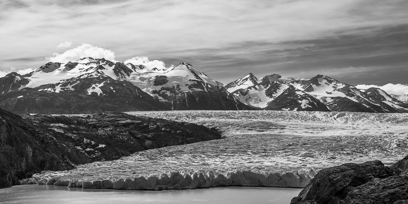 Glacier Grey (B&W) - Torres del Paine, Chile