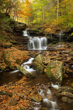 """R.B. Ricketts Falls"" - Ricketts Glen State Park   Recommended Print sizes*:  4x6  