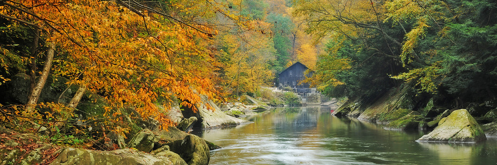 """Autumn at the Mill"" - McConnell's Mill State Park   Recommended Print sizes*:  5x15  