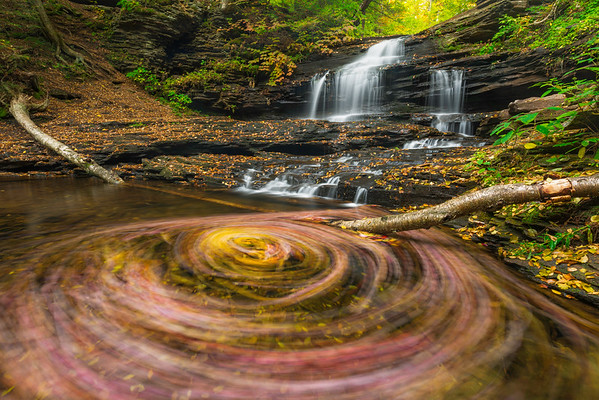 """""""Red + Yellow = Orange"""" - Ricketts Glen State Park, PA   Recommended Print sizes*:  4x6  