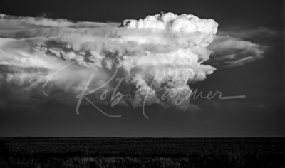 Thunderhead on the Prairie (B&W)