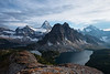 """The Nub""<br /> <br /> Mt. Assiniboine in the Canadian Rockies, British Columbia."