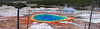 """Grand Prismatic Spring Panorama""<br /> <br /> A panorama of Grand Prismatic Spring in Yellowstone National Park, Wyoming.<br /> <br /> Available in custom sizes, contact me for more info."