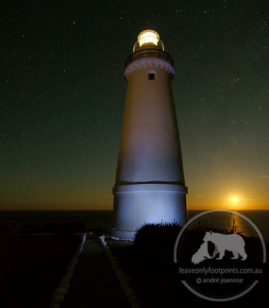 Moonrise at Cape Willoughby Lighthouse, Kangaroo Island, South Australia