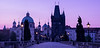 """St. Charles Bridge""<br /> <br /> Panorama of St. Charles Bridge at dawn, Prague, Czech Republic.<br /> <br /> Available in custom sizes, contact me for more info."