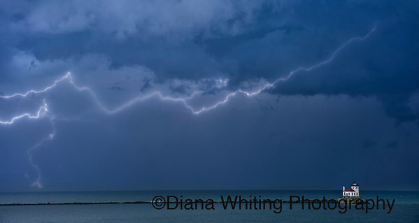 Oswego LIghthouse; Lightning Storm_DSC4066