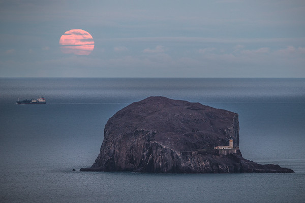 Big Bass Moon - Bass Rock, Scotland