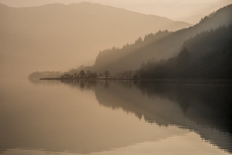 Winter Reflections - Loch Lubnaig, Scotland