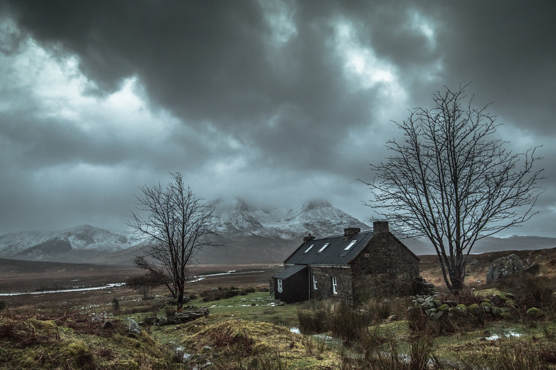 Deep Gloom -  Shenevall Bothy, Wester Ross, Scotland