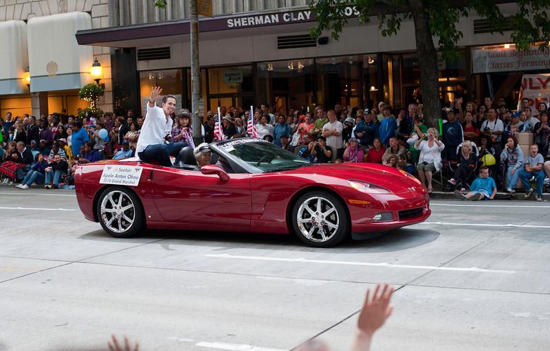 Apolo Anton Ohno<br /> Seafair Parade<br /> Seattle, Washington