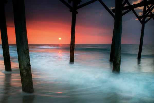 """Sunrise at the Pier"" - Myrtle Beach, South Carolina   Recommended Print sizes*:  4x6  