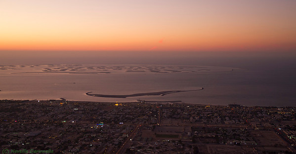 View from the top of Burj Khalifa - The World