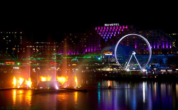 Darling Harbour - vivid 2015