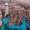 View from the top of Burj Khalifa - Dubai Mall, The Address Hotel, The Palace Hotel, Souk Al Bahar