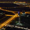 View from the top of Burj Khalifa - Al Khail Road