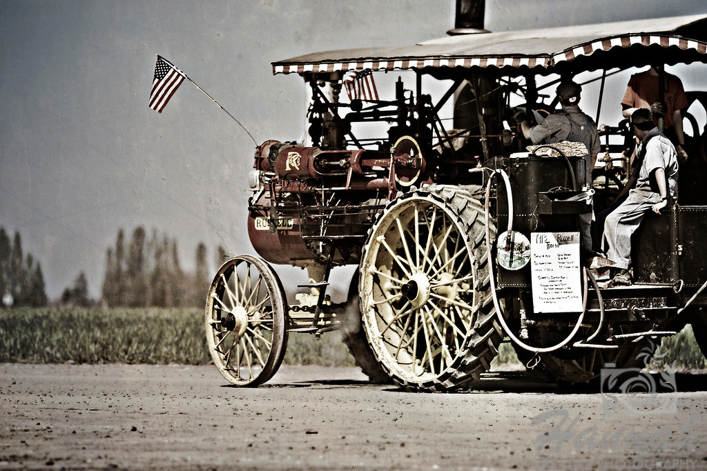 Old, antique steam engine taken at the Wooden Shoe Tulip Farm in Woodburn, OR  © Copyright Hannah Pastrana Prieto