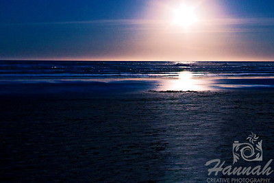 Waiting for sunset at the beach.  Shot at Cannon Beach, Oregon Coast.  © Copyright Hannah Pastrana Prieto