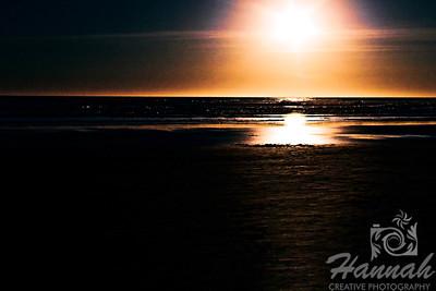 Waiting for sunset at the beach.  Shot at Cannon Beach, Oregon Coast.  © Copyright Hannah Pastrana Prieto