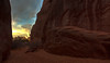 Entry to Sand Dune Arch<br /> Arches National Park<br /> Utah