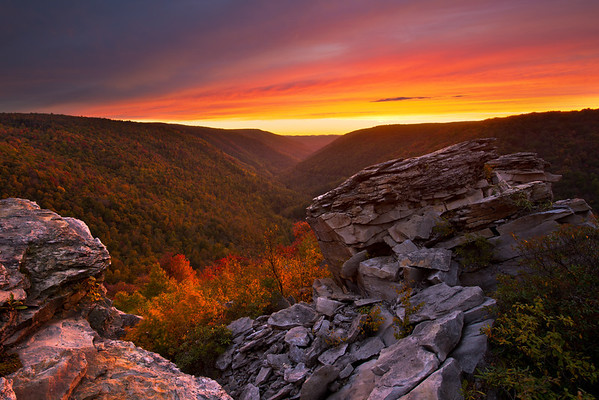"""Last Light at Lindy'"" - West Virginia, Blackwater Falls State Park   Recommended Print sizes*:  4x6  