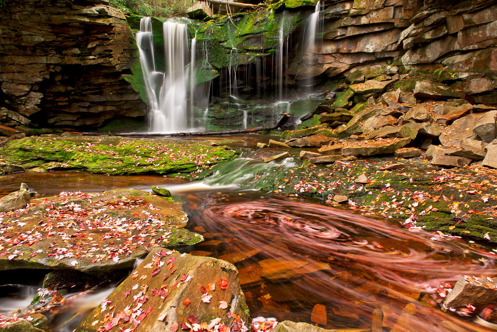 """Swirlin' N' Whirlin'"" - West Virginia, Blackwater Falls State Park   Recommended Print sizes*:  4x6  