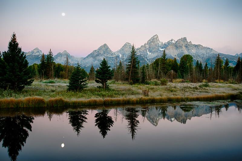 Teton Moonlight Morning