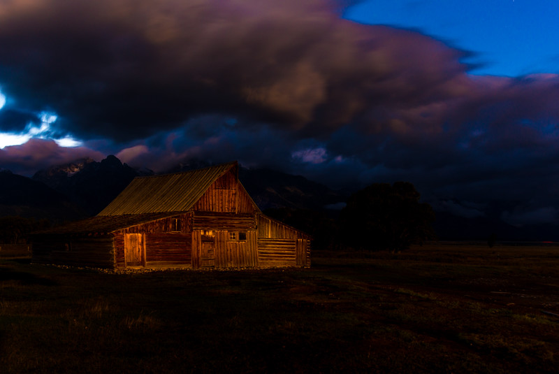 Storm Breaking Over THE Barn