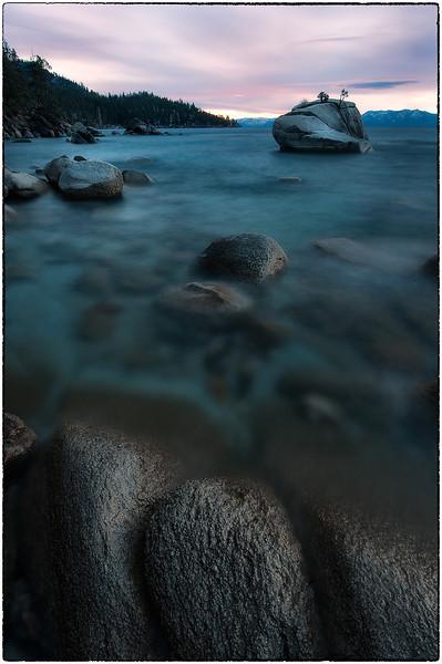 Sunset at Bonsai Rock, Lake Tahoe, Nevada<br /> <br /> (