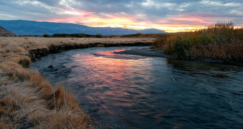Owens River Sunrise<br /> near Bishop, California